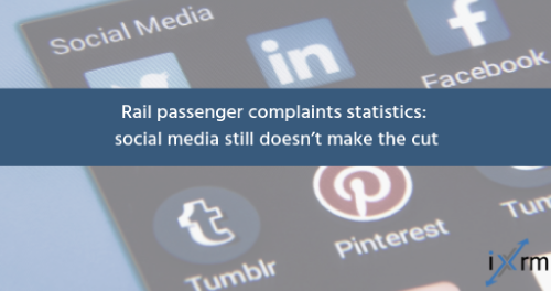 Rail passenger complaints statistics: social media still doesn't make the cut